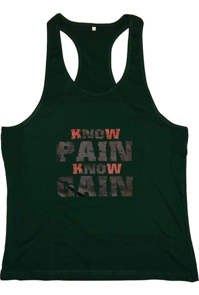 Top Glory Fitness Gym Tank Top Atlet Sporcu Atleti Yeşil 5002