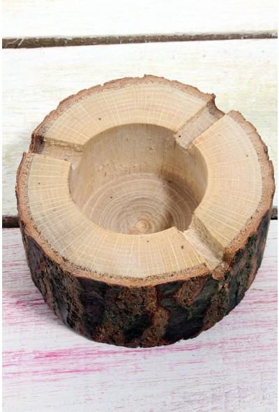 Qtük Doğal Kütük Küllük 8 cm