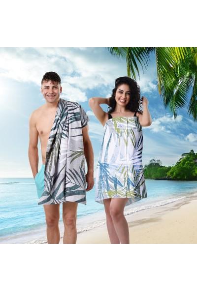 Airycot Üç Parça Plaj Havlu Seti - Beach Set Palm