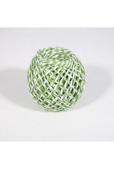 Rocopaper Kağıt Ip - Yeşil&beyaz 50 Metre - 32 Gr.