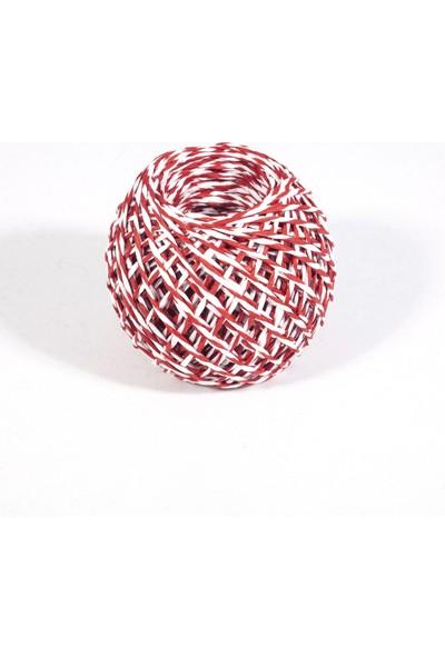 Rocopaper Kağıt Ip - Kırmızı&beyaz 50 Metre - 32 Gr.