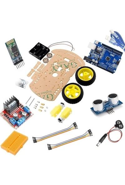 Maker Arduino Combo 2WD Full Robot Araç Seti