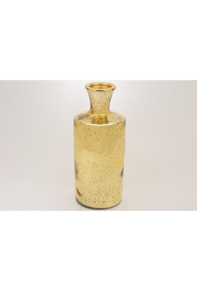 Mikasa Moor Gold Şişe Şek Cam Mumluk 31 cm