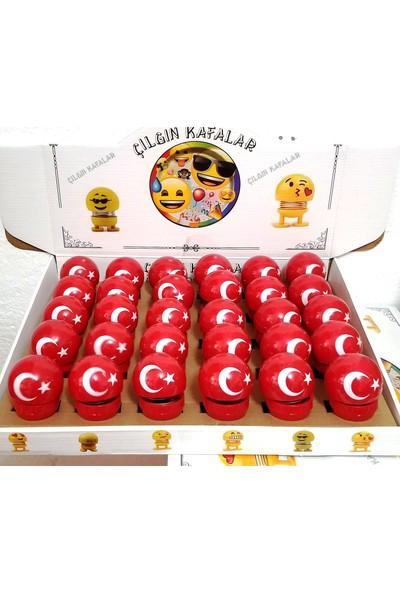 Emek Türk Bayraklı Yapışkanlı Çılgın Kafalar 6 Adet Set