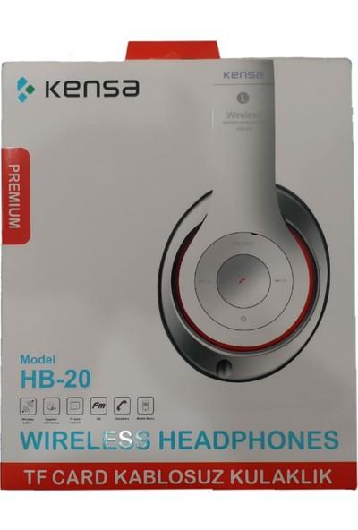Kensa Hb-20 Kablosuz Bluetooth Kulaklık Kulaküstü