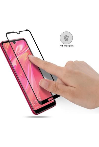 Melikzade Huawei Y7 2019 Tam Kaplayan 5D Ekran Koruyucu Cam