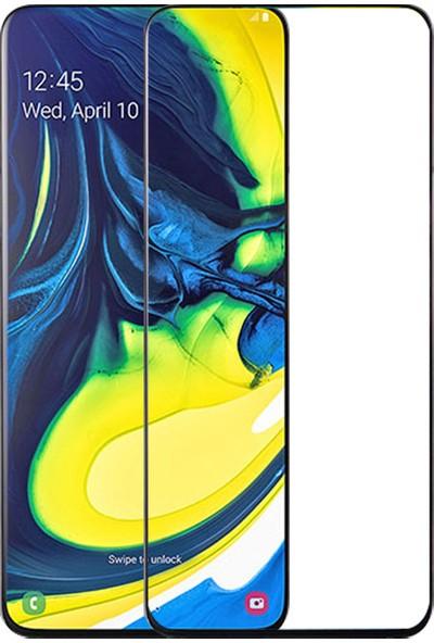 Melikzade Samsung Galaxy A80 Tam Kaplayan 5D Ekran Koruyucu Cam