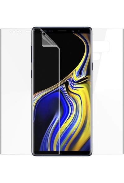 Casestore Samsung Galaxy Note 9 Ön Arka 360 Tam Koruma Full Body Şeffaf Jelatin Film