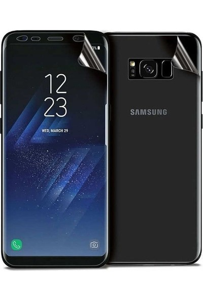 Casestore Samsung Galaxy S8 Plus Ön Arka 360 Tam Koruma Full Body Şeffaf Jelatin Film