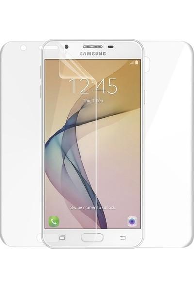 Casestore Samsung Galaxy J5 Prime Ön Arka Ekran Koruyucu Full Body Jelatin Şeffaf