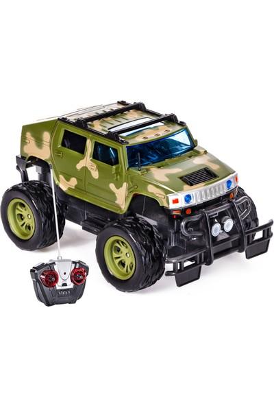 Can-Em Oyuncak Uzaktan Kumandalı Usb Şarjlı Askeri Jeep Yeşil