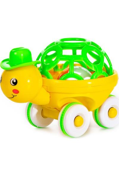Can-Em Oyuncak Displayde Sevimli Kaplumbağa Çıngırak Sarı - Yeşil