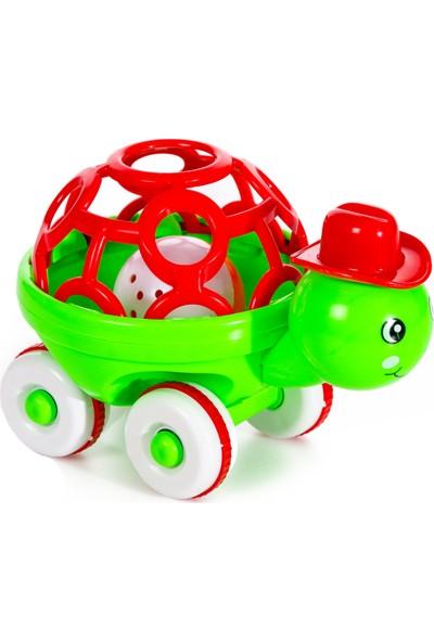 Can-Em Oyuncak Displayde Sevimli Kaplumbağa Çıngırak Yeşil - Kırmızı