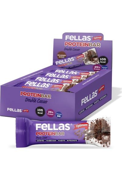 Fellas Optimum Protein Bar Duble Kakao 32 g x 16