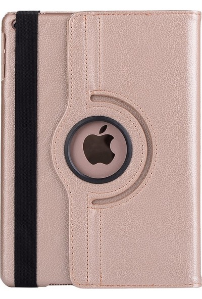 EssLeena Apple Powers Kılıf Seti iPad Air 1 (2013/2014) 9.7 İnç (A1474/A1475/A1476) 360 Derece Dönebilen Tablet Kılıfı+330 Derece Bükülebilen Nano Koruyucu+Kalem Gold
