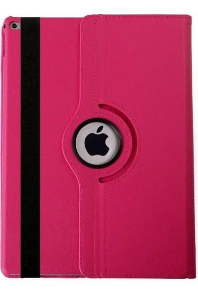 EssLeena Apple PlusTech Kılıf Seti iPad Mini 2.Nesil (2013/2014) 7.9 İnç (A1489/A1490/A1491) 360 Derece Dönebilen Tablet Kılıfı+9H Koruyucu Cam+Kalem+Şarj Kablosu Pembe
