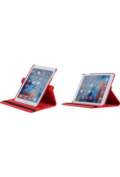 EssLeena Apple PlusTech Kılıf Seti iPad Pro 12.9 1.Nesil (2015) 12.9 İnç (A1584/A1652) 360 Derece Dönebilen Tablet Kılıfı+9H Koruyucu Cam+Kalem+Şarj Kablosu Pembe