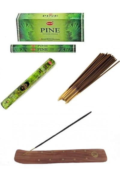 Piramigo Orman ve Çam Kokusu 40 Adet Tütsü Çubuğu ve Pati Tütsü Kızağı - Pine Forest