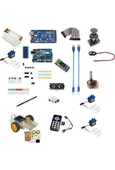 Maker Arduino Uno & Mega Full Eğitim Seti - 38 Parça 319 Adet Extra Hediyeli
