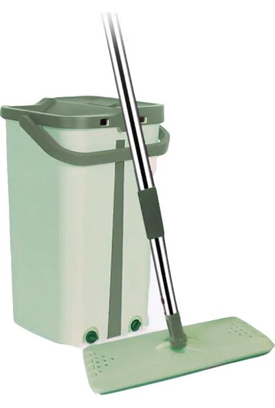 Mopotek Mop Tablet Temizlik Kova Seti Yeni Nesil Mop Yeşil