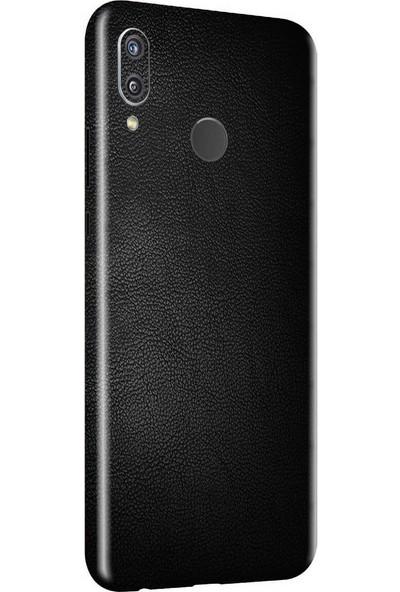 3M Huawei P Smart Plus Siyah Deri Telefon Kaplama