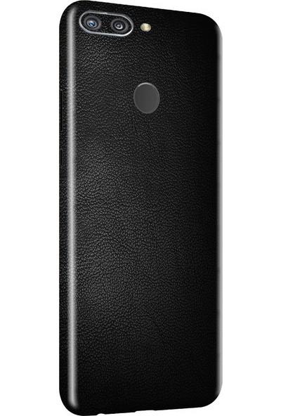 3M Huawei Honor 9N Siyah Deri Telefon Kaplama