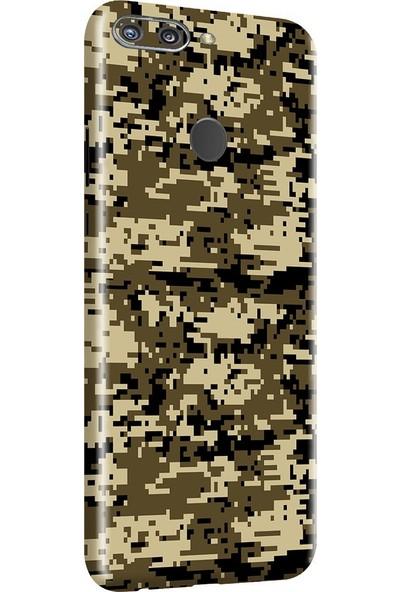 3M Huawei Honor 9N Camouflage Brown Telefon Kaplama