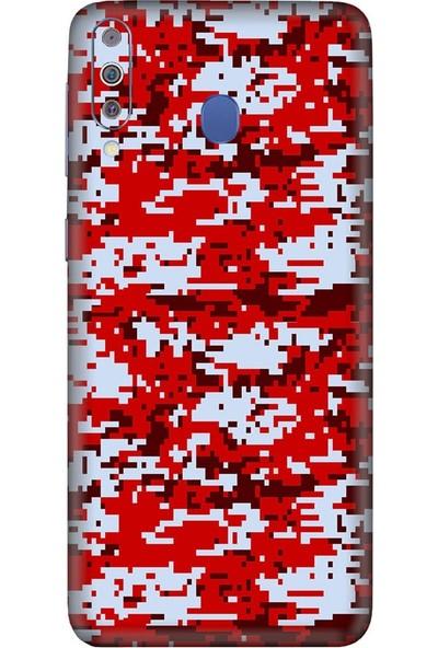 3M Samsung Galaxy M40 Camouflage Red Telefon Kaplama