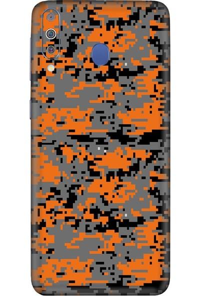 3M Samsung Galaxy M40 Camouflage Orange Telefon Kaplama