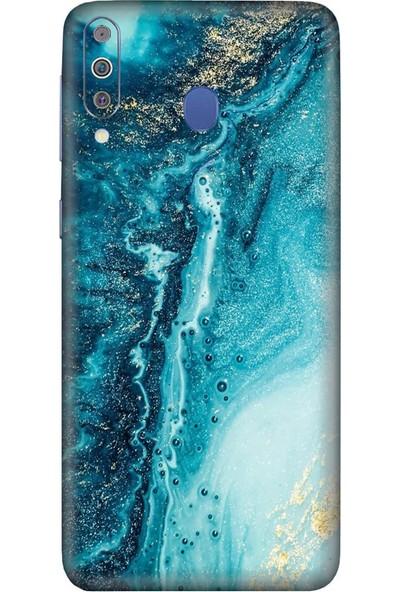 3M Samsung Galaxy M40 Blue Marble Telefon Kaplama