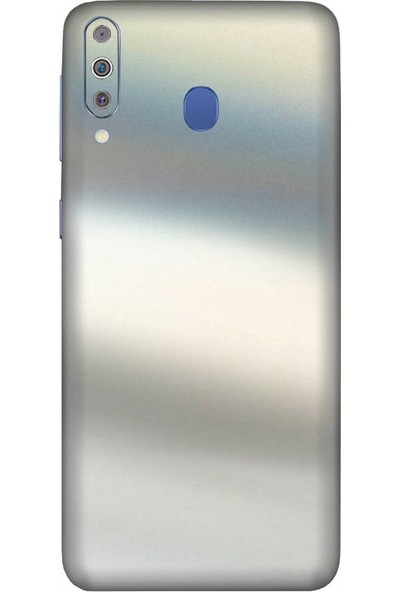 3M Samsung Galaxy M40 Satin Flip Ghost Pearl Telefon Kaplama