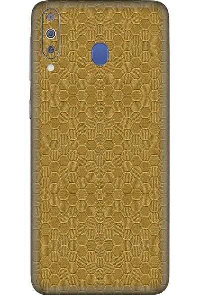 3M Samsung Galaxy M40 Honey Comb Gold Telefon Kaplama