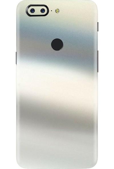 3M OnePlus 5T Satin Flip Ghost Pearl Telefon Kaplama