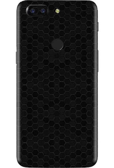 3M OnePlus 5 Honey Comb Black Telefon Kaplama