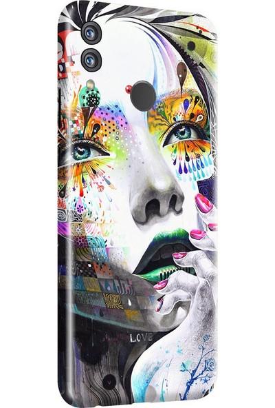 3M Huawei Honor 8X Kadın Desen Telefon Kaplama