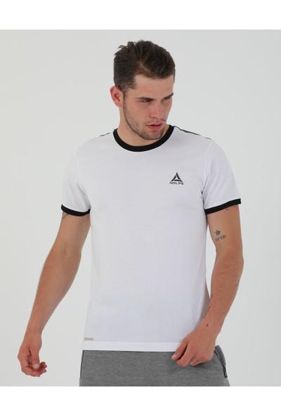 Airlife Erkek Beyaz Basic Yaka Tişört