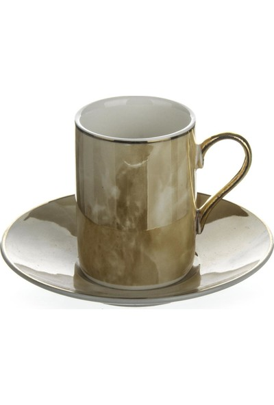 Aryıldız Porselen 2li Kahve Fincan Seti Marble