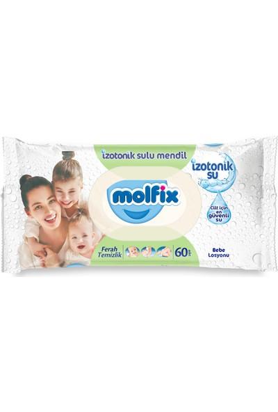 Molfix İzotonik Ferah Temizlik Bebe Losyonlu Islak Havlu 12 li (720 Yaprak)