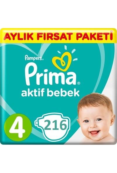 Prima Bebek Bezi Aktif Bebek 4 Beden Maxi 189 Adet