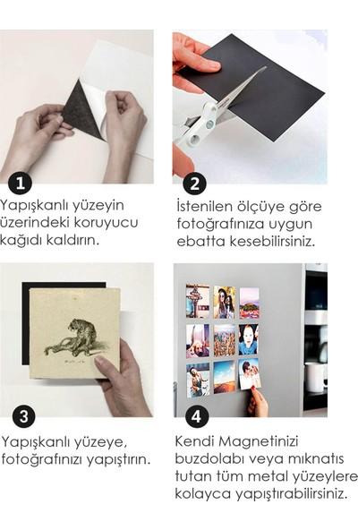 DirektAl Yapışkanlı Levha Tabaka Mıknatıs-Fotomagnet 0,5 mm 50 x 61 cm
