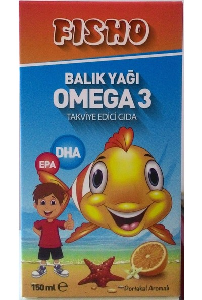 Fisho Balık Yağı Omega 3 Şurup 150ML