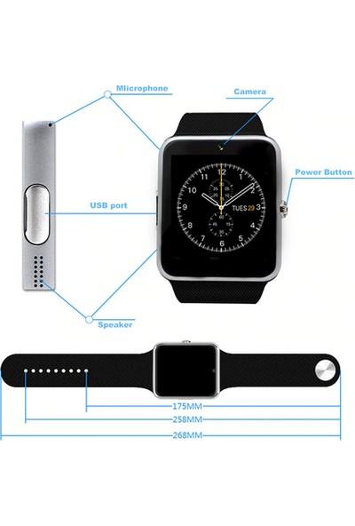 Eatech GT08 Universal Akıllı Saat - Siyah