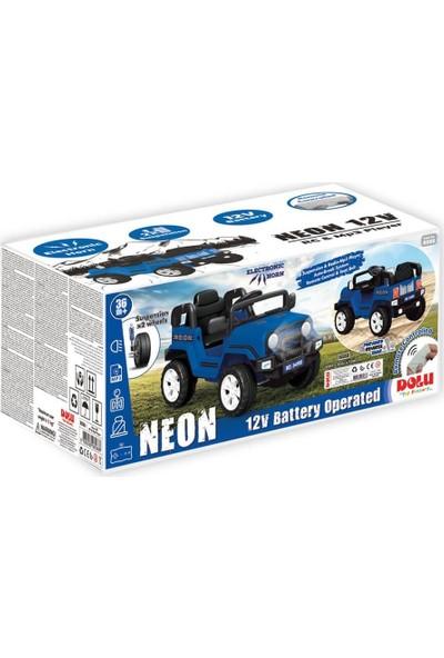 Dolu Neon Uzaktan Kumandalı Akülü Araba 12 V Mavi