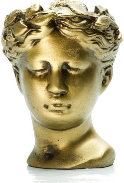 Çanakbahçe- Helen Gold Dekoratif Büst Saksı