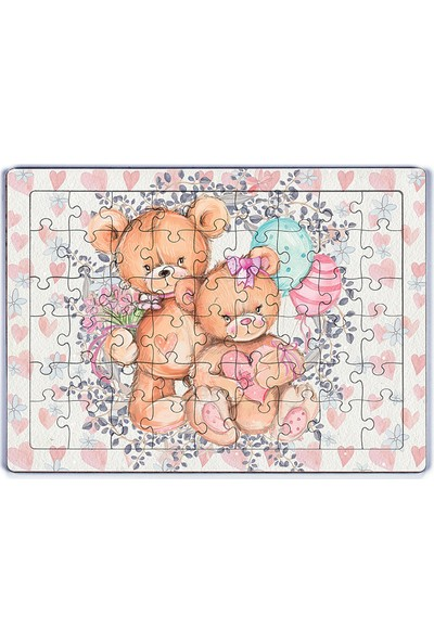 King Of Puzzle Ayıcıklar Ahşap Puzzle 54 Parça (Lıv-02)