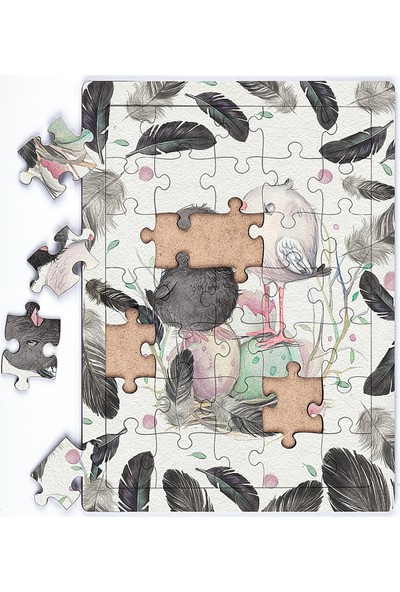 King Of Puzzle Minik Kuşlar Ahşap Puzzle 35 Parça (Xxxv-16)