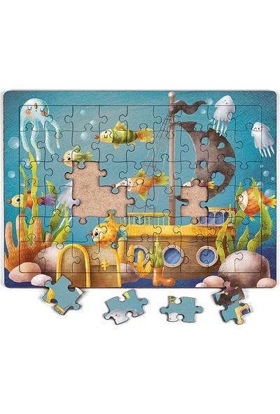 King Of Puzzle Batık Gemi Ahşap Puzzle 54 Parça (Lıv-04)