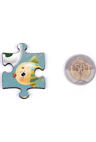 King Of Puzzle Mutluluk Ahşap Puzzle 54 Parça (Lıv-18)