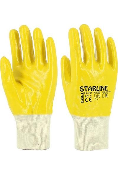 Starline E-206-Y Nitril Eldiven (No:9) Sarı