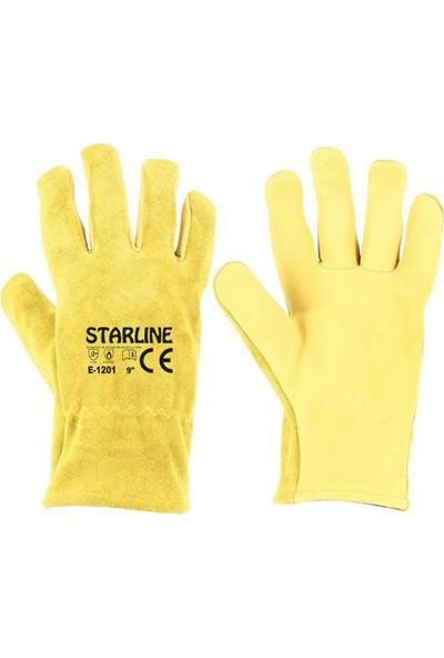 Starline E-1201 Kaynak Eldiven (Yarma+Cilt) No:10